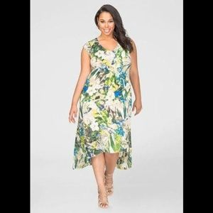 Ashley Stewart Hi-Lo Flounce Maxi Dress 14